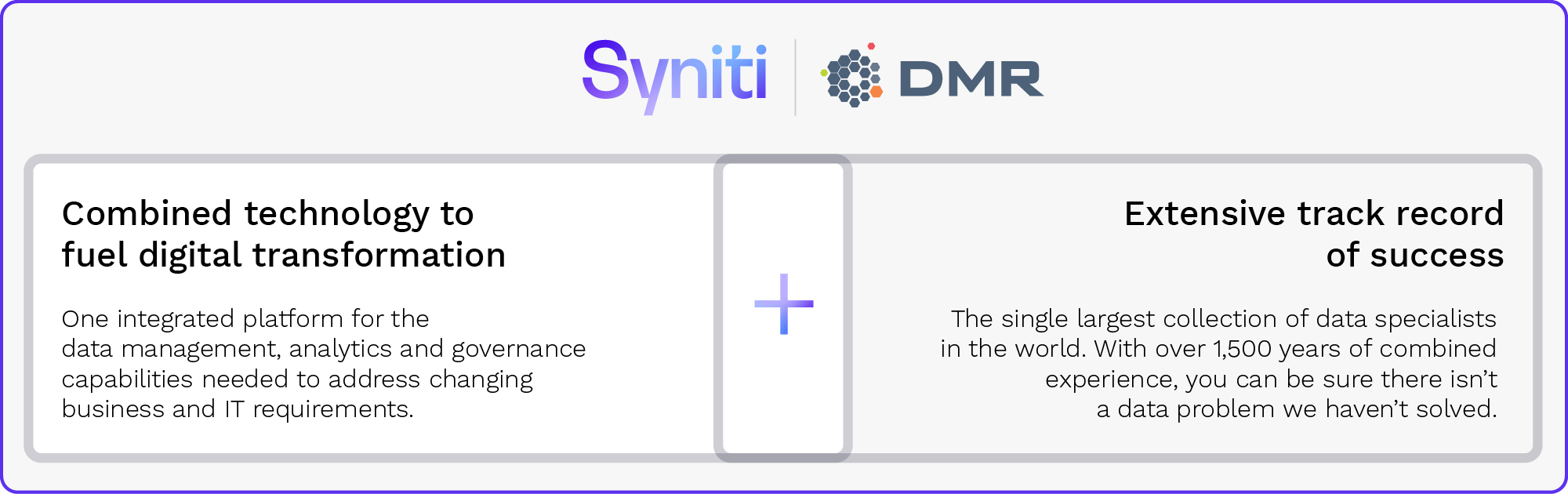 Syniti DMR - Merger Benefits